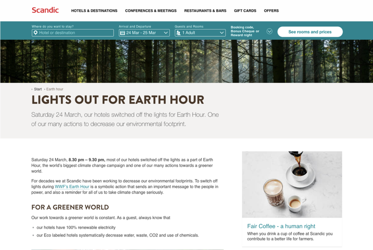 Scanding-earth-hour