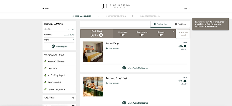 hoban-hotel-price-comparisoj