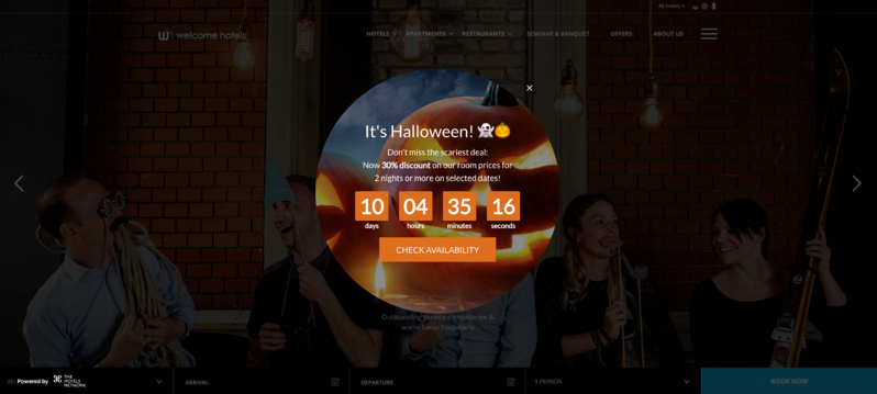 Eye-catching Layer incorporating a countdown-clock-for-the-xclusive-Halloween-offer