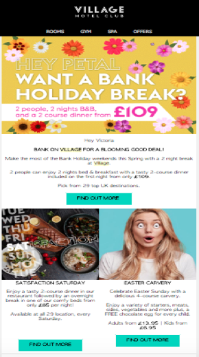 villagehotels-email-marketing-strategy